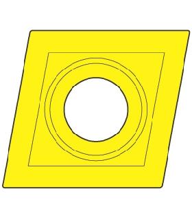 10233 PLAQUITA INTERCAMBIABLE TORNEADO CCMT 80º POSITIVA - 8500 - CCMT-060202-E-ZRR-P625